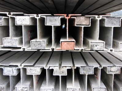 Aluminum Beams used